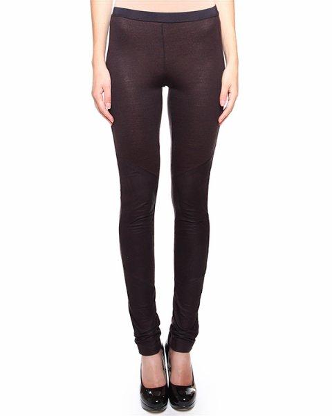 брюки прилегающего силуэта, с кожаными вставками артикул 19PY461/23 марки ILARIA NISTRI купить за 12300 руб.