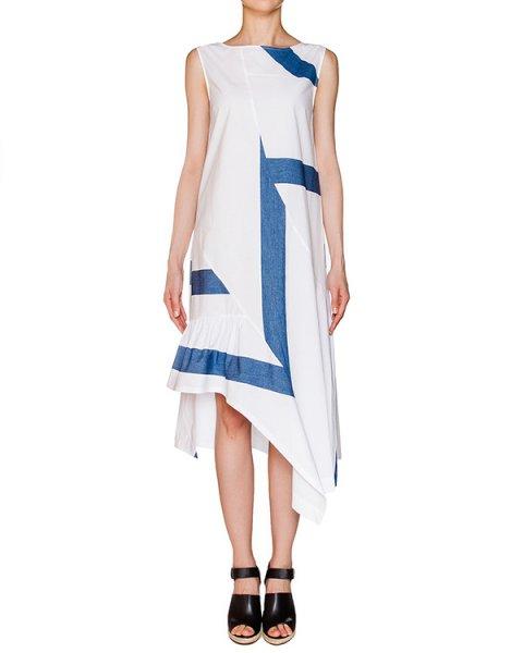 платье асимметричного кроя из легкого хлопка в полоску артикул 1H9309 марки Antonio Marras купить за 19300 руб.