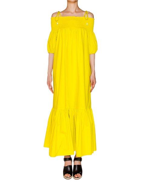 платье из легкого хлопка с широкой резинкой на плечах артикул 1H9313 марки Antonio Marras купить за 16300 руб.