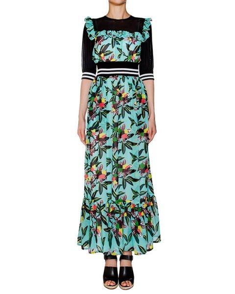 платье из легкой ткани, дополнено полупрозрачной вставкой и эластичным поясом артикул 1H9353 марки Antonio Marras купить за 58400 руб.