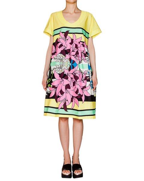 платье свободного кроя из тонкого хлопка с рисунком артикул 1H9369 марки Antonio Marras купить за 19300 руб.