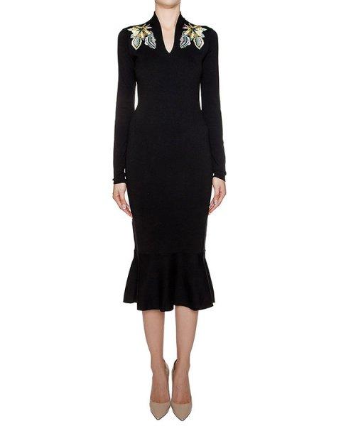 платье из шерстяного трикотажа с цветочной вышивкой артикул 1I9338 марки Antonio Marras купить за 41400 руб.