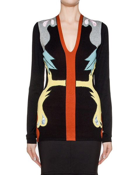 пуловер из мягкого трикотажа с контрастным рисунком артикул 1I9833 марки Antonio Marras купить за 41600 руб.