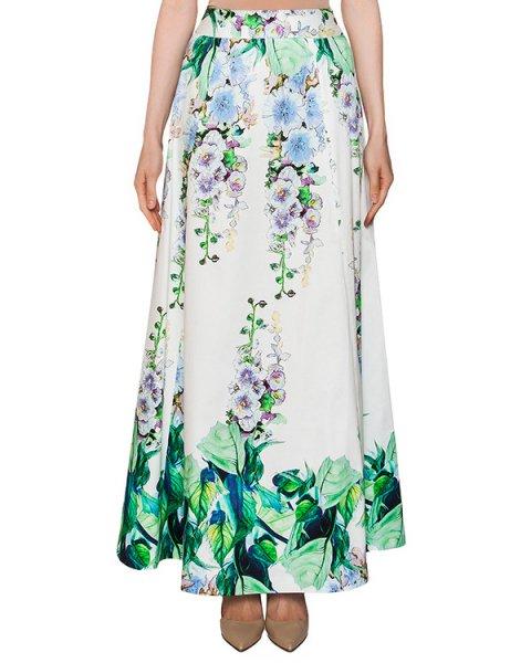 юбка в пол из хлопка с цветочным принтом артикул 204IN марки Infinee купить за 9900 руб.