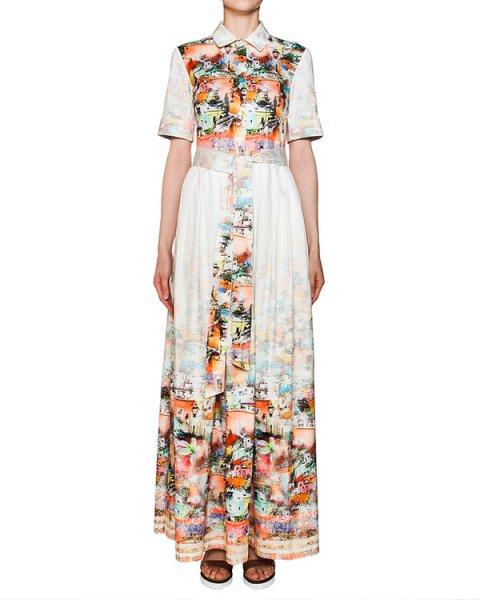 платье в пол из хлопка с ярким принтом артикул 206 марки Infinee купить за 17900 руб.