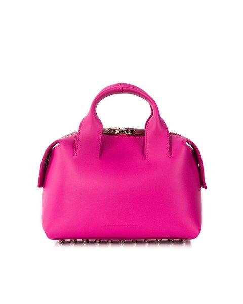 сумка с дополнительным кошельком; из натуральной кожи с фирменными металлическими шипами артикул 20S0162 марки Alexander Wang купить за 51400 руб.