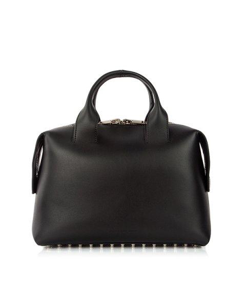 сумка с дополнительным кошельком; из натуральной кожи с фирменными металлическими шипами артикул 20S0168 марки Alexander Wang купить за 61700 руб.