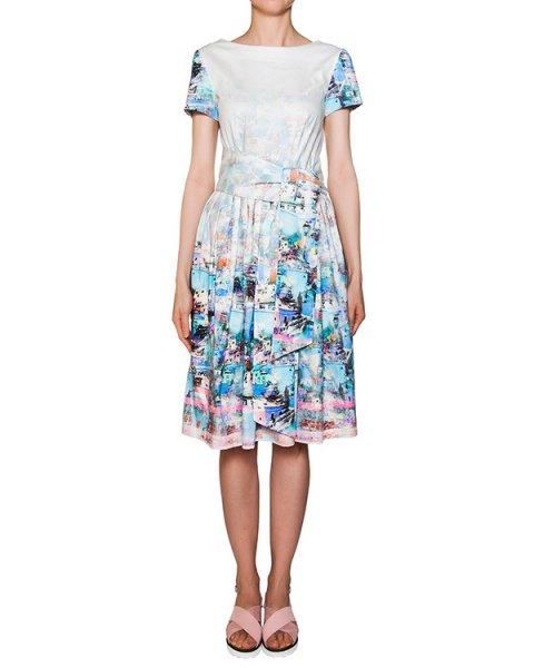 платье приталенного кроя из хлопка с ярким принтом артикул 211BIS марки Infinee купить за 14900 руб.