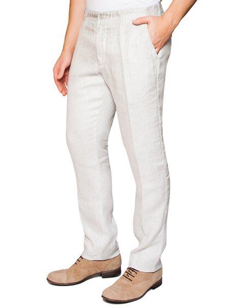 брюки классического прямого кроя из льна артикул 2130D943 марки 120% lino купить за 15200 руб.