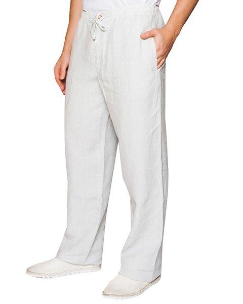 брюки прямого кроя из натурального льна артикул 21430253-001 марки 120% lino купить за 13300 руб.