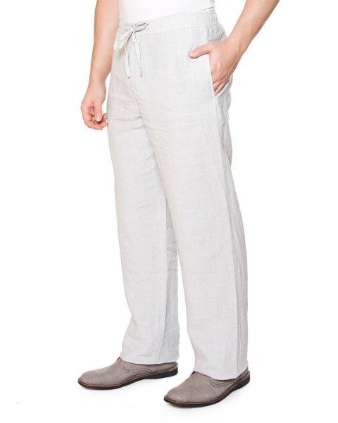 брюки прямого широкого силуэта с высокой посадкой, из тонкого комфортного льна артикул 21430253 марки 120% lino купить за 13100 руб.