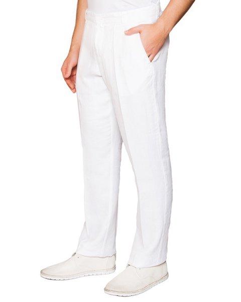 брюки классического прямого кроя из натурального льна артикул 2161D943 марки 120% lino купить за 5700 руб.