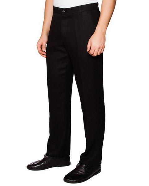 брюки классического прямого кроя из натурального льна артикул 2161D943 марки 120% lino купить за 14300 руб.