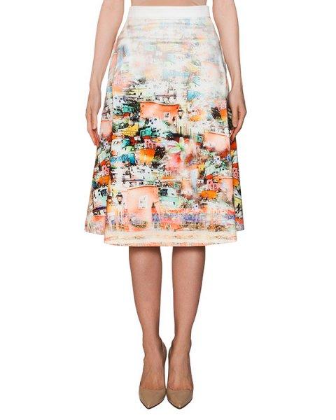 юбка из хлопка с ярким принтом артикул 225 марки Infinee купить за 7900 руб.