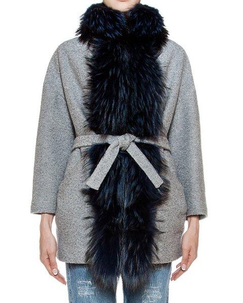пальто из плотной шерсти с отделкой из натурального меха  артикул 22AAFW16 марки Ava Adore купить за 103300 руб.