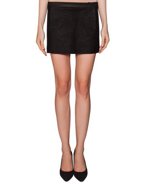 юбка из плотного трикотажа c отделкой из натуральной кожи артикул 22GY871/4 марки ILARIA NISTRI купить за 37400 руб.