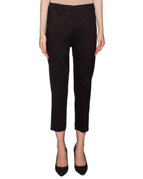 брюки укороченные, прямого кроя из микса льна и купро артикул 22PY865/6 марки ILARIA NISTRI купить за 19800 руб.