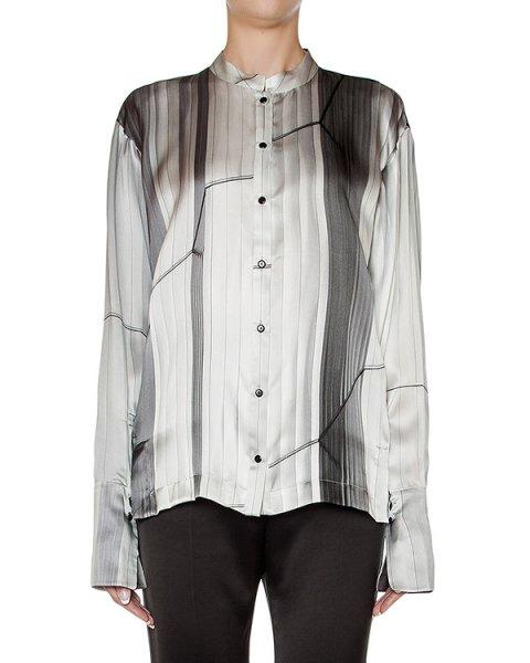 блуза из гладкого шелка с абстрактным принтом артикул 23CY180/19 марки ILARIA NISTRI купить за 37200 руб.