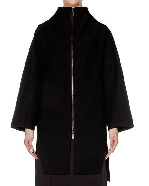 пальто свободного кроя из плотной шерсти артикул 23JY117/1 марки ILARIA NISTRI купить за 74000 руб.