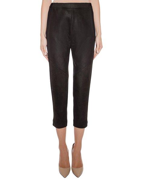 брюки комбинированные из натуральной кожи и легкой ткани артикул 23PY105/9 марки ILARIA NISTRI купить за 54000 руб.