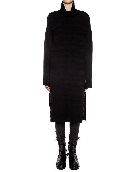 платье из шерсти и кашемира с высокими разрезами по бокам артикул 23QX134/12 марки ILARIA NISTRI купить за 32000 руб.