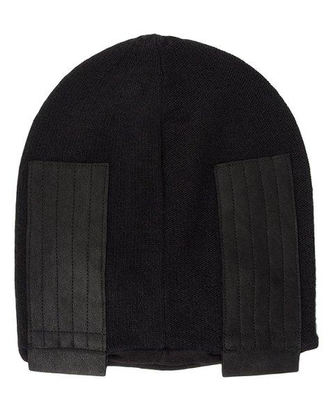 шапка из шерсти и кашемира, дополнена кожаными вставками артикул 23QX194/12 марки ILARIA NISTRI купить за 9600 руб.