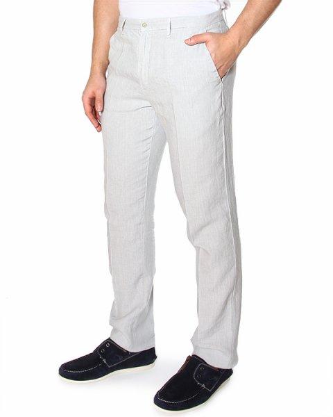 брюки зауженного кроя с высокой посадкой, из тонкого комфортного льна артикул 2411D695 марки 120% lino купить за 6800 руб.