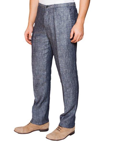 брюки классического прямого кроя из натурального льна артикул 2411E425 марки 120% lino купить за 5700 руб.