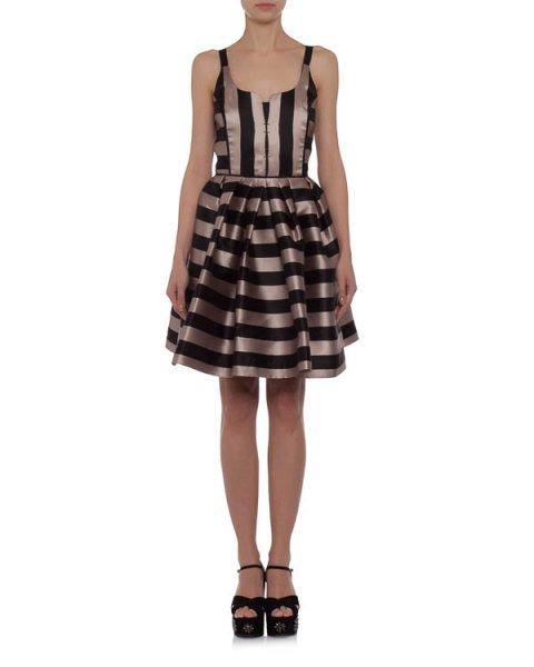 платье с пышной юбкой из плотной ткани в полоску артикул 2524 марки Dice Kayek купить за 14500 руб.