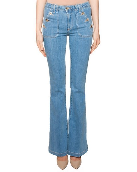 джинсы расклешенного кроя из плотного денима артикул 2899396 марки Paige купить за 13600 руб.