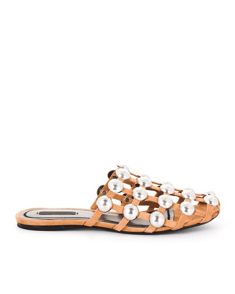 сандалии из замши с металлической фурнитурой артикул 301119 марки Alexander Wang купить за 41700 руб.