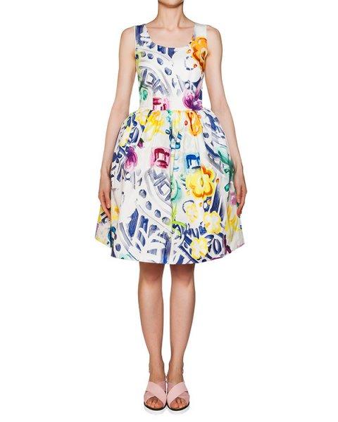 платье из плотного хлопка с цветочным принтом артикул 316 марки Infinee купить за 16900 руб.