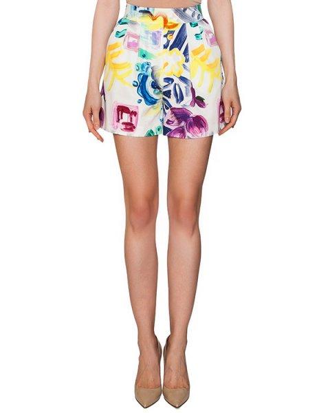 шорты из плотного хлопка с цветочным принтом артикул 319 марки Infinee купить за 7900 руб.