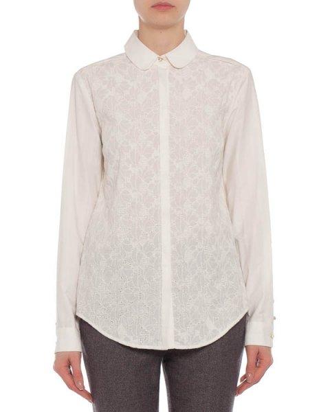 блуза удлиненного кроя, с набивным рисунком артикул 31P4112S марки Marchesa Voyage купить за 11900 руб.