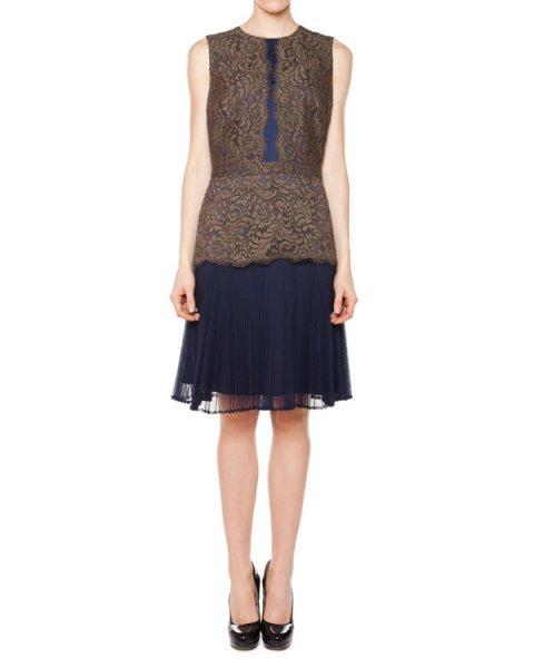 платье с кружевной отделкой и плиссированной юбкой артикул 31R5717S марки Marchesa Voyage купить за 28500 руб.