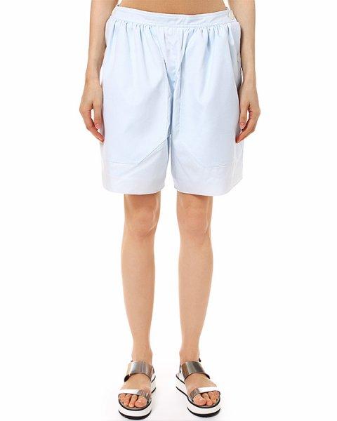 шорты нежно-голубого оттенка с боковыми карманами артикул 325S62 марки Carven купить за 7900 руб.