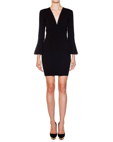 платье из шерстяного трикотажа с золотистой отделкой артикул 36KI70 марки EMILIO PUCCI купить за 26000 руб.
