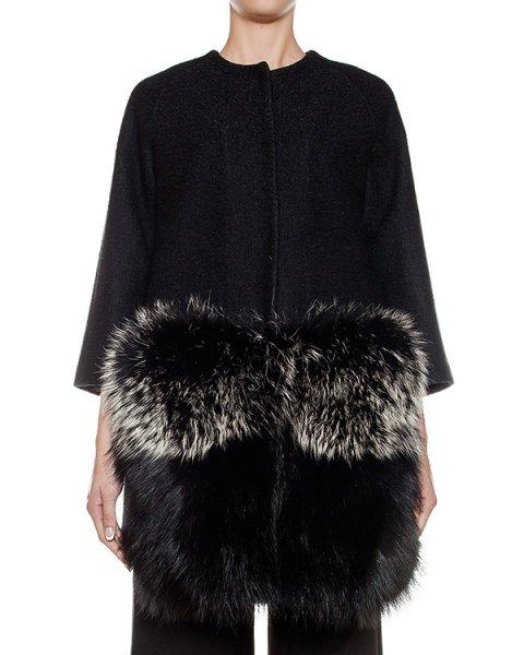 пальто из плотной полушерстяной ткани, дополнена низом из натурального меха артикул 38AAFW16 марки Ava Adore купить за 115300 руб.