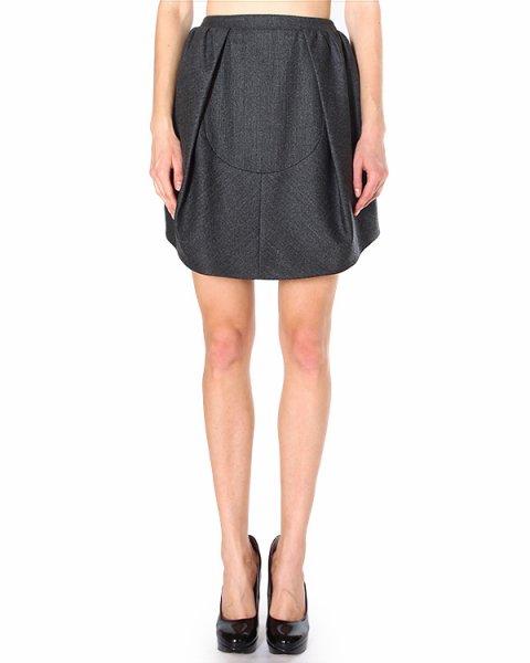 юбка с посадкой на талии, драпированная асимметричными складками артикул 390J49 марки Carven купить за 11000 руб.