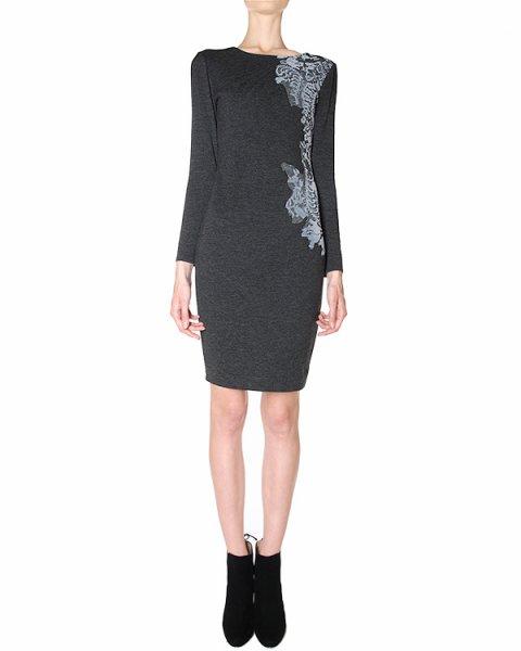 платье с удлиненным кружевным рисунком по левой стороне артикул 39317 марки D.EXTERIOR купить за 13500 руб.