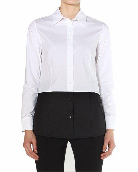 рубашка с широкой контрастной вставкой по низу артикул 39764 марки D.EXTERIOR купить за 10000 руб.