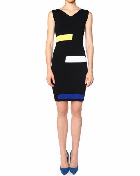 платье из трикотажа с контрастными панелями артикул 40196 марки D.EXTERIOR купить за 11100 руб.