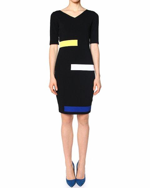 платье из трикотажа с контрастными панелями артикул 40198 марки D.EXTERIOR купить за 13700 руб.