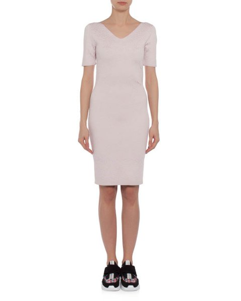 платье из мягкого фактурного трикотажа с геометрическим узором артикул 40336 марки D.EXTERIOR купить за 19900 руб.