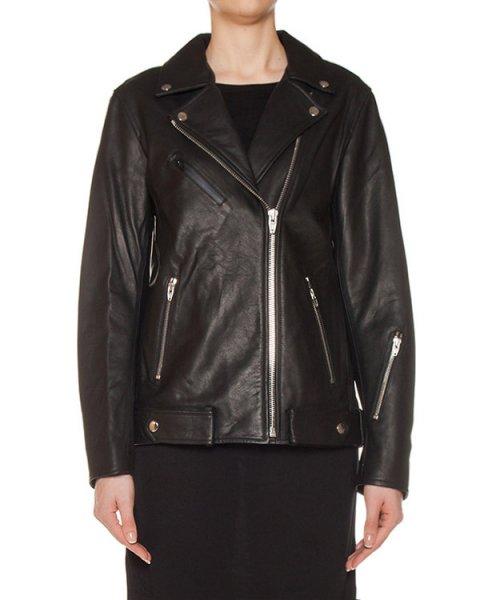 куртка косуха из мягкой кожи артикул 403519 марки T by Alexander Wang купить за 90700 руб.