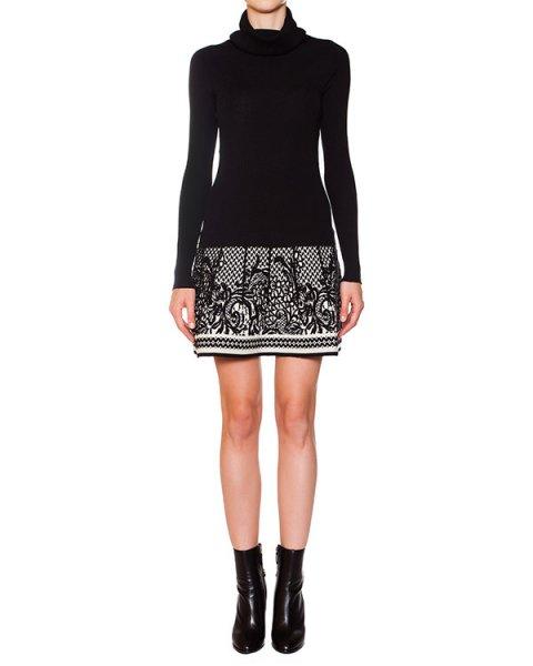 платье из эластичной шерсти с ажурным узором артикул 41006 марки D.EXTERIOR купить за 11700 руб.