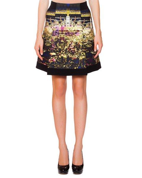 юбка из полушерстяного трикотажа с абстрактным принтом артикул 41678 марки D.EXTERIOR купить за 9200 руб.
