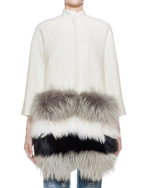 пальто из плотной шерсти с отделкой из натурального меха  артикул 41AAFW16 марки Ava Adore купить за 115300 руб.