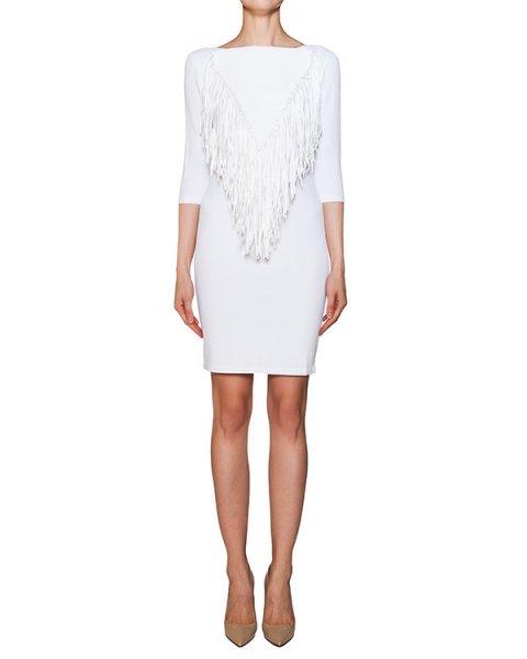 платье из эластичной ткани с бахромой артикул 42067 марки D.EXTERIOR купить за 12500 руб.