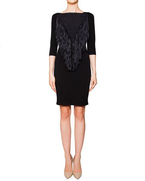 платье из плотной эластичной ткани, декорировано бахромой артикул 42067 марки D.EXTERIOR купить за 15600 руб.